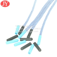 China Hot Sale Abs/Tpu Plastic Tipping Round Polyester Drawstring Rope End Aglet tips Eco Friendly No Fade Color wholesale