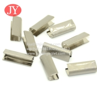 China Jiyanag garment accessories factory Supply bright color draw cord stopper rubber metal aglet for hoodie strings wholesale