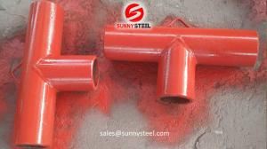 China Ceramic lined composite pipe tee wholesale