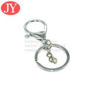 China handware factory manufacture snap hook belt lanyard carabiner keychain metal Lobster clasp wholesale