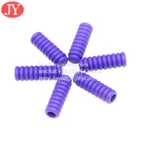 China TPU whorl plastic aglet for hoodies string 5.3*3.1*16.5 pants rope no fade color shoelace plasitc tip wholesale