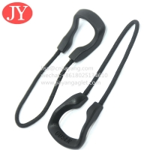China Custom plastic rubber pvc zipper puller slider silicone zipper head string U shape soft rubber zipper pull wholesale