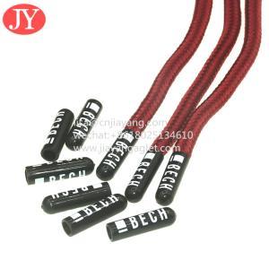 China custom fashional plastic aglets shoe lace tips round polyester string shoelaces aglet wholesale