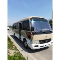 China diesel / petrol 2015 2016 luxury mini coach used toyota coaster with 30seats for sale wholesale