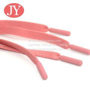 China flat/round shape plastic aglet for cord matte black color bullet shape  cotton cord for hoodies wholesale