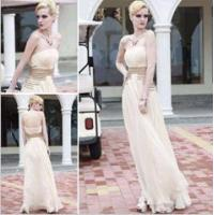 China beige strapless bridesmaid dresses,  noble beading bridesmaid dresses wholesale