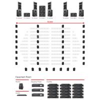 China Stage Outdoor Movie Audio System  Low Noise Easy Operation 120-800W wholesale