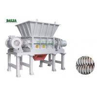 China PLC Control Double Shaft Plastic Shredder Machine With Hard Knife For Waste Films wholesale