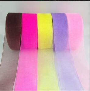 China Various Color Polyester Organza Ribbon Sheer Style For Gift Box Packing wholesale