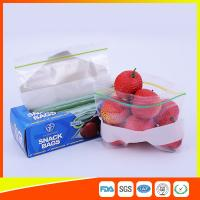 China LDPE Transparent Resealable Press Zip Snack Ziplock Bags Air Proof For Packaging wholesale
