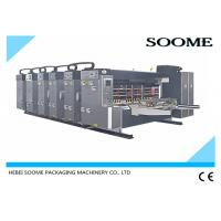 China Dust - Proof Flexo Printer Slotter Die Cutter With Lead - Edge Suction Feeding System wholesale