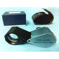 China Glass 10x Magnification Jewellers Loupe With White Led Light wholesale