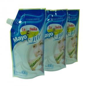China Oxygen Barrier PET / AL / PE Reusable Spout Pouch Packaging With Rear Seal wholesale