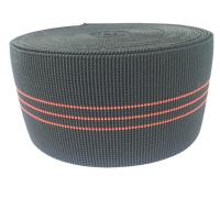 China 3 Inch Elastic Upholstery Webbing Furniture Accessories Black Color wholesale