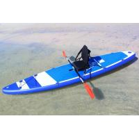 China 380cm Custom Paddle Boards SUP Sit On KAYAKA With 8 D Rings 2 Kayak Seats wholesale