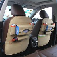 Quality PU material hot sell special design black car seat back organizer for sale