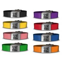 China Medical silicone qr bracelet /id bracelet /silicone wristbands with custom color logo wholesale