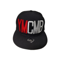 China Customized Black 5-Panel Panel Flat Bill 3D Embroidery Logo Snapback Cap Sports Cap wholesale