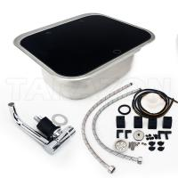 China Practical RV Kitchen Sink Single Bowl RV Stainless Steel Sink With Toughened Glass Cover on sale