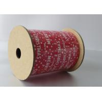 Quality White and Red Wide Christmas Curling Ribbon Spool with PP Laminagted Printed 130U for sale