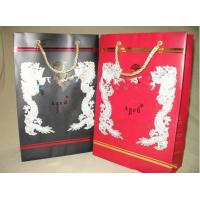 China Customized Black / Red 157gsm Mini Paper Gift Bag With Personsized Pattern wholesale