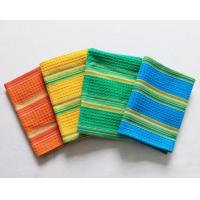 China 100% Cotton Waffle Hanging Dish Towels Bamboo Fiber With Good Shrink Resistance wholesale