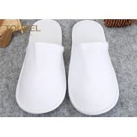 China Luxury With Unisex Size White Spa Slippers For Men And Women , Disposable House Slippers wholesale