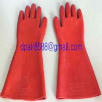 Buy cheap Natural Rubber Industrial Insulating Gloves from wholesalers