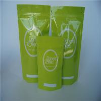 China Mylar Tea stand up ziplock bags , Custom Reclosable plastic pouch packaging wholesale