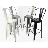 China Tolix Marais Bar Stool , Outddor Tolix Bar Stool Chair With Back Rest wholesale