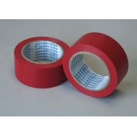 China Red Adhesive Floor Marking Tape PVC Film Thickness 0.5MM For Pipe Wrapping wholesale