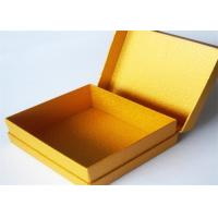 China Yellow Antique Lamination Printed Gift Boxes With lids For Clothes wholesale