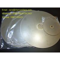 "China 8"" Coated Diamond Flat Lap Disc with Grit 320 1mm thickness for glass working wholesale"