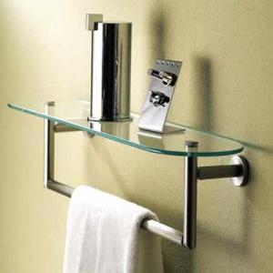 China decorative bathroom accessories double towel bar wholesale
