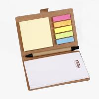 China Brown Personalised Stationery Notebooks / Personalized Notebook With Sticky Notes wholesale