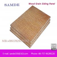 Wood grain siding waterproof bathroom wall covering panels for Wood grain siding panels