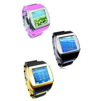 China HOT ! Watch phone quadband FM with camera bluetooth touch screen wholesale