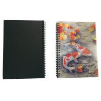 Quality Wires Colored 80 Pages A5 3D Plastic Cover Notebooks For School Use for sale