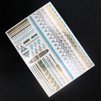 China Eco-friendly Body Art Flash Gold Temporary Tattoo Sticker With Fashionable Designs on sale