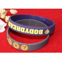 China Soft Custom Silicone Rubber Wristbands Delicate Debossed Color Filled Logo wholesale