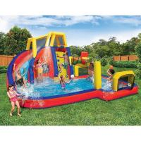 China Children Slide Inflatable Waterpark Waterproof Climb And Sport Playing on sale