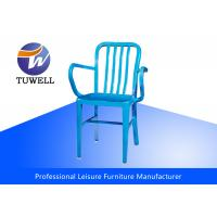 China Outdoor Light Weight Armrest Emeco Aluminum Navy Chairs For Restaurant wholesale