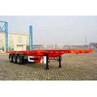 China 3 Axles 50 tons ABS Braking system extendable flatbed trailer for machine transport wholesale