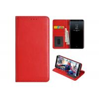 China Samsung Galaxy Note 8 Leather Flip Cover / Samsung Leather Folio Case Red on sale