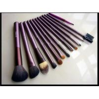 China 12 Pcs Cosmetic Brush Set , Professional Makeup Brush Kit PU Bag Wood Handle wholesale