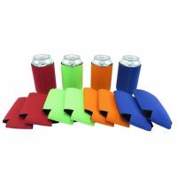 China Qualified promotional foldable beer sleeve neoprene beer Can Cooler Holder size:10cmc*13cm  Material is neoprene wholesale