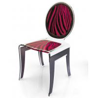 Quality Clear Acrylic Baroque Chair With Artwork , Modern Acrylic Furniture for sale