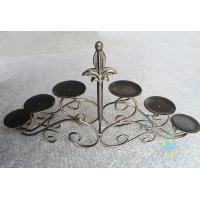 China CH-30-2 etched Acrylic hurricane candle holders wholesale