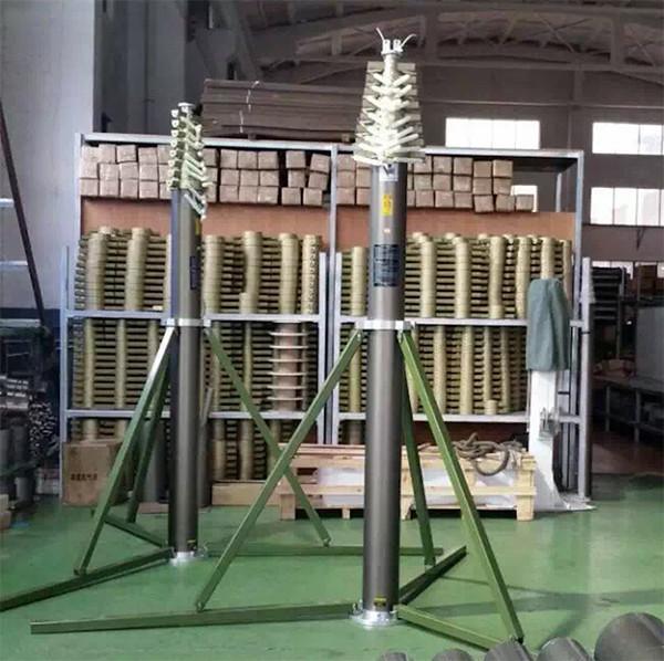 18m light duty pneumatic mast