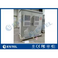 China 2 Compartments Rack Mounted Outdoor Base Station / IP55 Outdoor Equipment Enclosure wholesale